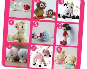 Special Deal - Amigurumi Crochet Patterns - Purchase 5 and Get 1 for Free