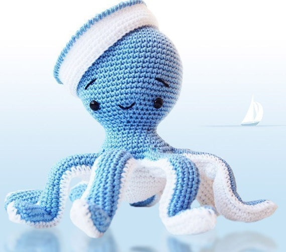 Amigurumi Crochet Octopus Patern - Sailor Octopus - Softie - Plush