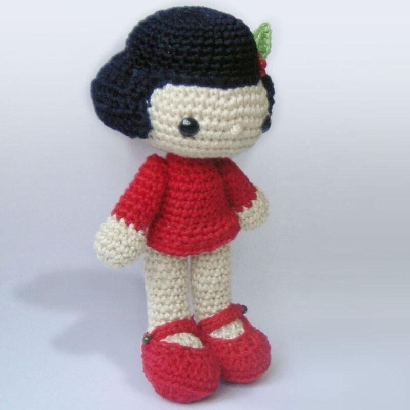 Amigurumi Crochet Dress : Amigurumi Crochet Pattern Vicky the Doll Stuffed Doll