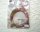 Mizuhiki Japanese Decorative Paper Cords Pink And Multi Color