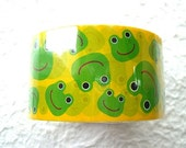 Cute Japanese Anime Sticker Tape-Cute Frogs-Wide