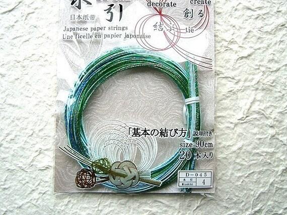 MizuhikiJapanese Decorative Paper Cords Blue And Green Multi Color