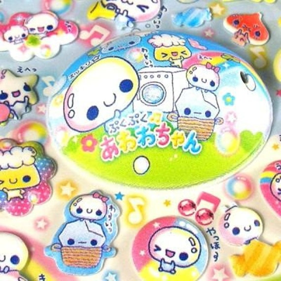 Kawaii Cute Stickers PukuPuku Awawa Chan By Kamio Japan (S313)