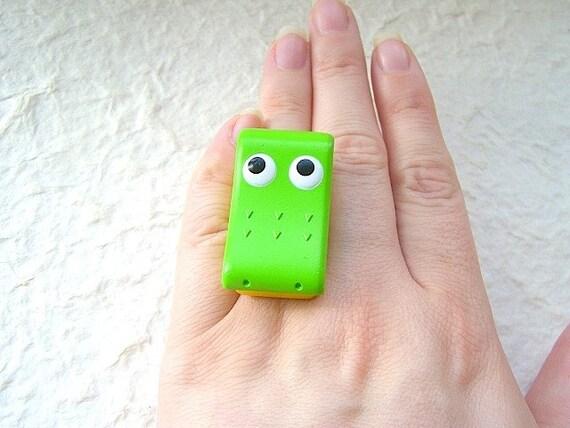 Cute Japanese Adjustable Ring-Children's Bento-It Opens