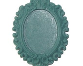 RS4001-13 --- FANCY BEAUTIFUL Resin Setting - 40x30mm center - Teal