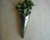 Raku Wall Vase