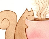 ACEO Print - Squirrel Snack - Limited Edition