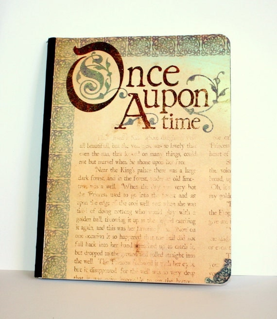 "Once Upon a Time Brown Purple and Teal Altered Journal ""Fairytale"""