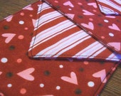 Funny Valentine - 4 Quilted Fabric Drink Coasters