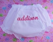 Personalized Baby Bloomers and Diaper Cover