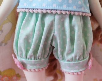 Pick Your Size - Fairy Kei Bloomers Mint and Pink Cute Lolita BJD Doll MSD YoSD Art Body Kaye Wiggs SD Super Dollfie Minifee Active