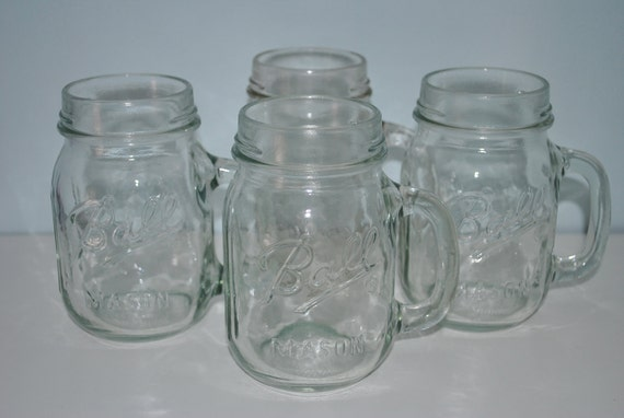 vintage ball mason jars with handles set of 4 wedding decor