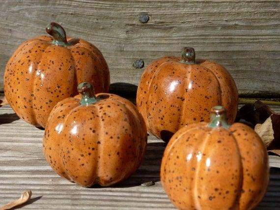 Hand Built Stoneware Pumpkin