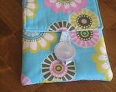 Padded Kindle Case with Pocket, Aqua Floral