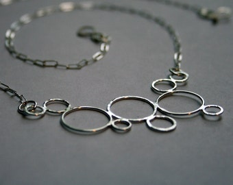 Attraction - Sterling Silver Circles Necklace