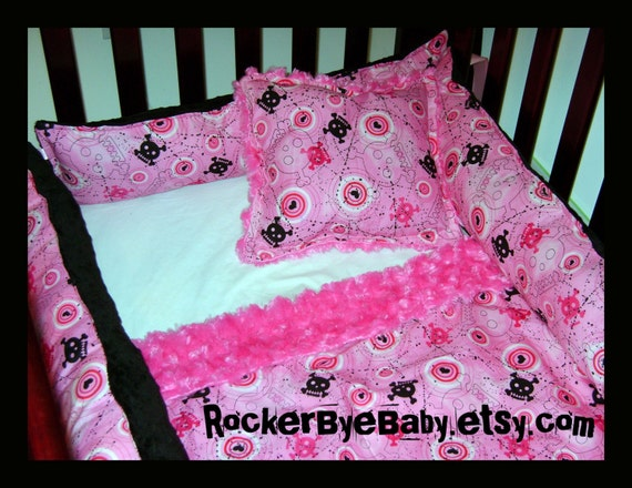 Custom punk baby crib bedding set with fabric that costs 6 and for Rock n roll baby crib set