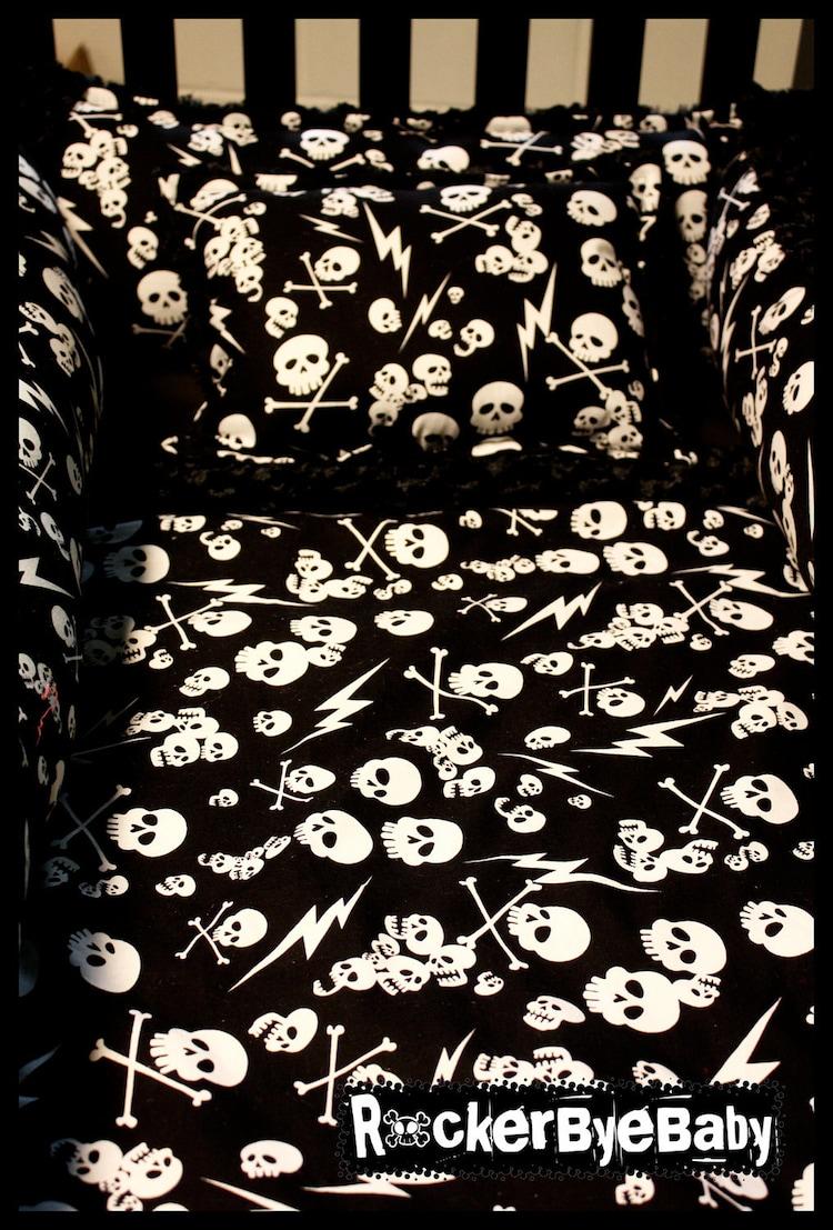 Custom Punk Baby 4 Piece Crib Bedding Set Fabric By