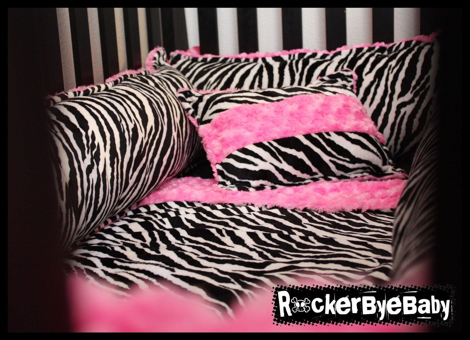 Baby crib zebra print bedding - Punk Animal Paisley Or Baroque Print Four Piece By Rockerbyebaby Home Crib Bedding Sets Kennedy Tailored Baby Bedding