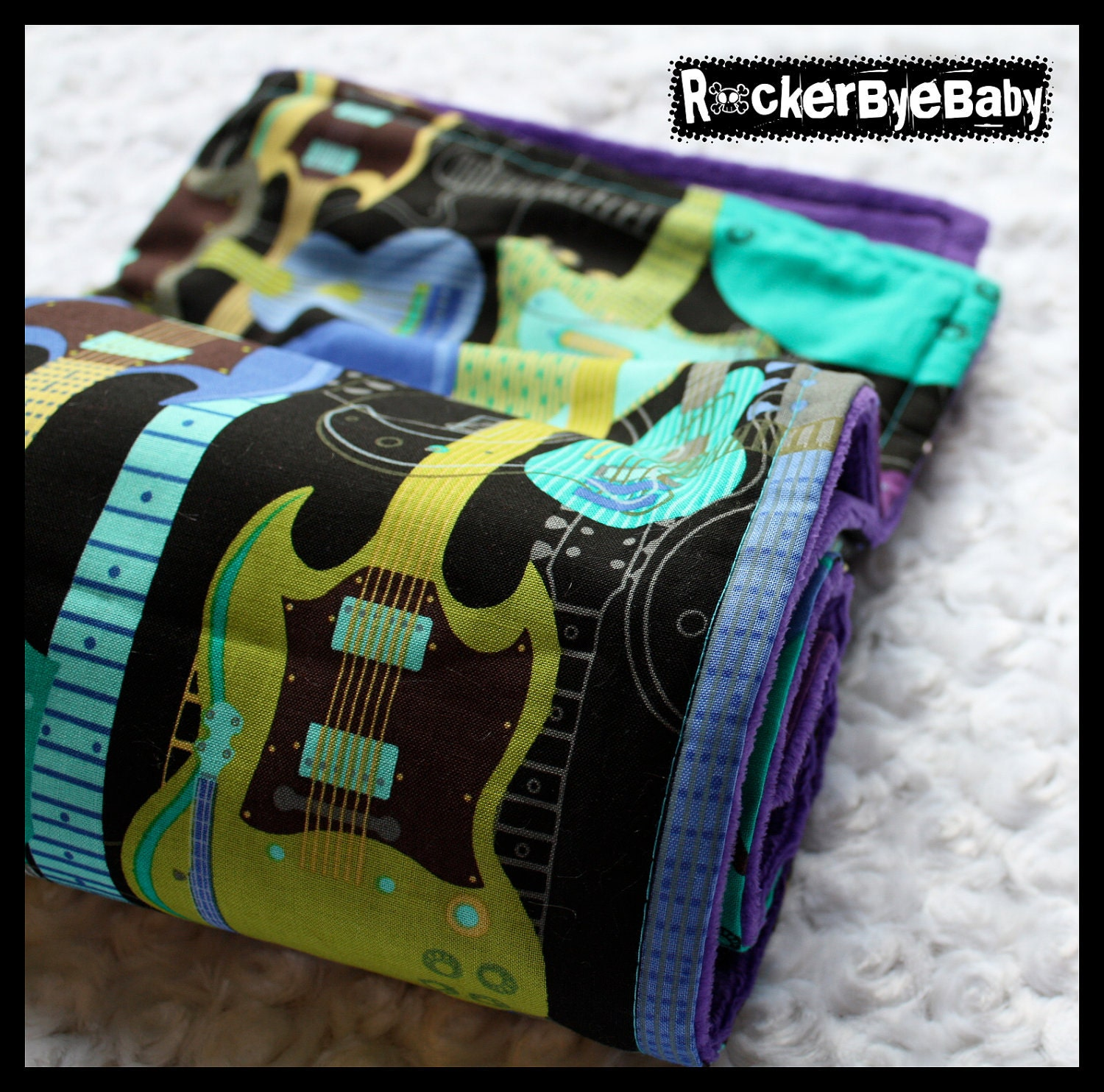 Punk Rock Jam Session Baby Or Toddler Blanket By Rockerbyebaby