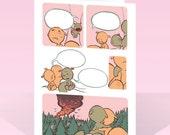Sympathy card by Jen Wang