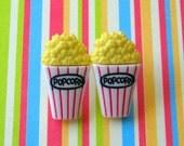 buttered popcorn stud post earrings