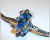 Luccicare Lampwork Bead - Small Focal - Lined with Sterling Silver