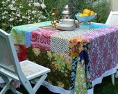 Custom listing for faithangel 2425 - a custom made patchwork tablecloth