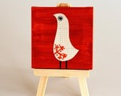Price reduced - Cute Bird Collectible Mini Canvas
