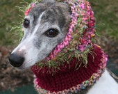 WhippetSchnood (Snood) Neck Warmer in Pinks, Greens, Blues, and Other Spring Colors MARCH MADNESS SALE