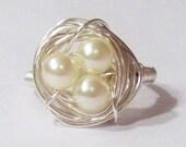 1 Cream Nest Ring