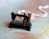 Sewing Time Necklace - miniature collector hobby