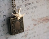 A little bird told me - locket and bird simple everyday necklace