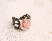 Pink Orchid Ring - shabby chic jewelry
