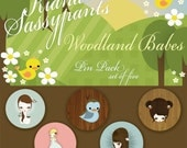 Woodland Babes Pin Pack by Kiana Sassypants