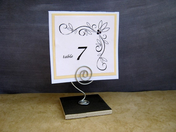 RESERVED Place Card or Table Number holder for by Baggavond  |Reserved Table Sign Holder