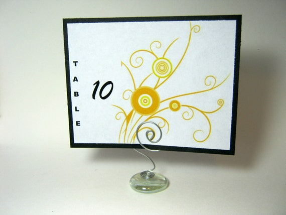 RESERVED - Glass Place Card Holder for placecard or table number or sign card