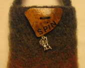 Spinning Wheel Bag with gourd button and spinning wheel charm
