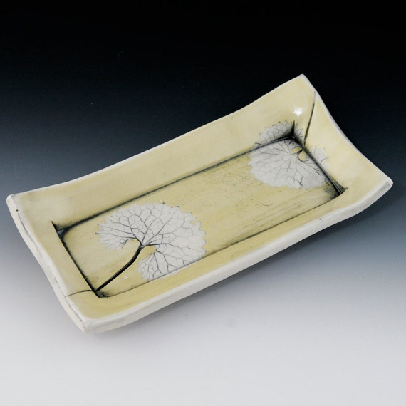 Butter Dish with Leaf Design
