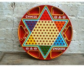The Ohio Art Co. Tin Chinese Checkers and Regular Checkers Game