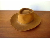 Vintage Western Outback 4X Beaver Bark Fur Felt Brown Stetson Cowboy Hat -