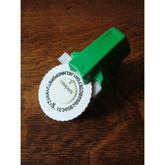 Vintage DYMO Mini Label Maker In Green By JustSmashingDarling