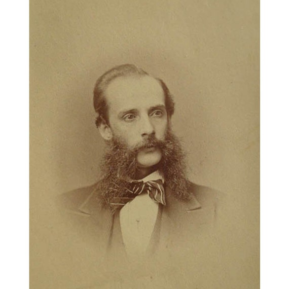 Big Mutton Chops Victorian Gentleman - CDV taken by Frank Rowell