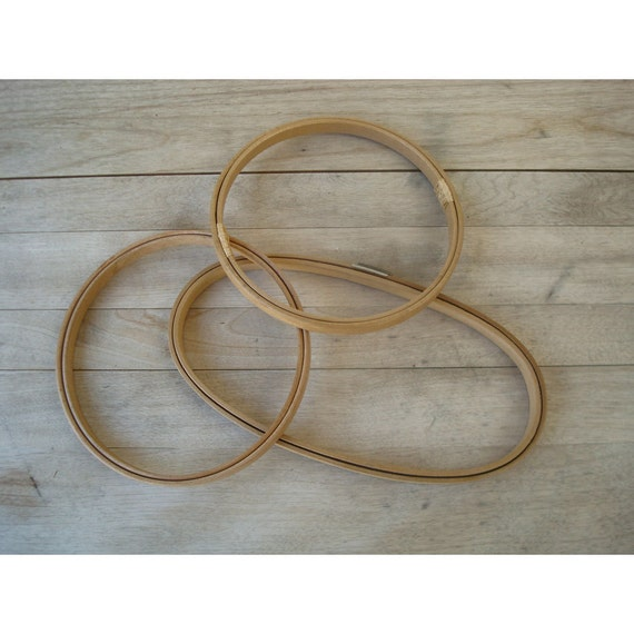 Set of vintage embroidery hoops small by justsmashingdarling