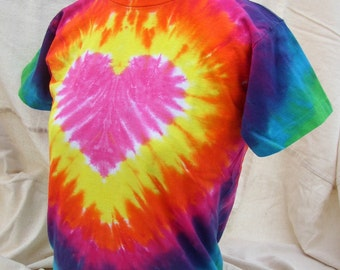Brilliant Heart Tie Dyed Youth T-shirt