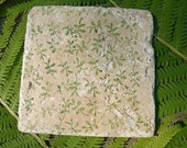 Marble Tile Trivet...Vines and Leaves