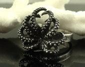 SALE - Black Diamond Octopus Ring