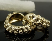 14K Wedding Band Set, OctopusME Jewelry, His and Hers, Tentacle Jewellery