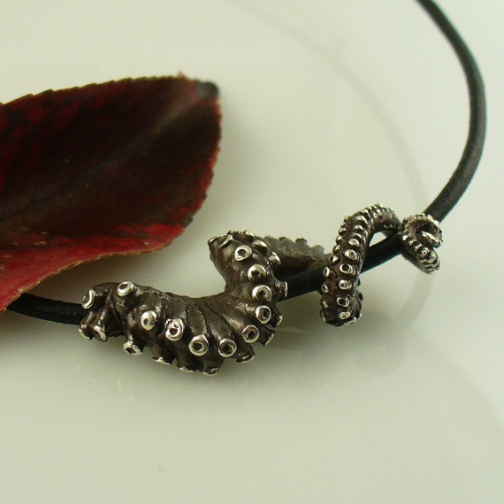 SALE - Ready to Ship! Leather Tentacle necklace, Octopus Jewelry, Tentacle Jewelry, OctopusME