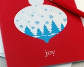 Christmas Cards - Ornament of Joy Holiday Cards Set by Oh Geez Design