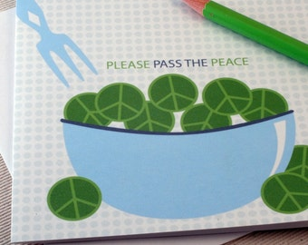 Pass The Peace Greeting Card by Oh Geez Design